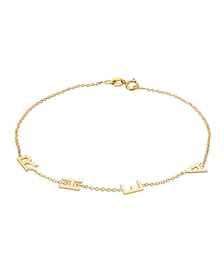 Zoe Lev Jewelry 14k Gold Initial Bracelet