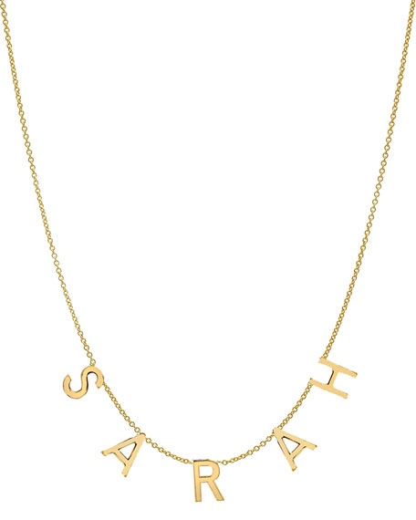 Zoe Lev Jewelry Personalized 14k Gold 5-Initial Necklace