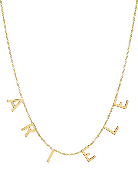 Zoe Lev Jewelry Personalized 14k Gold 6-Initial Necklace