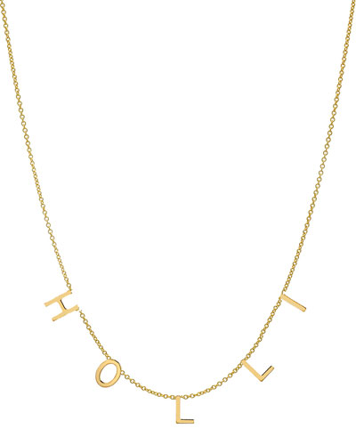 Personalized 14k Gold 5 Mini Initial Necklace