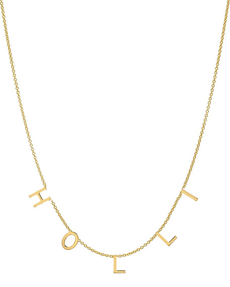 Zoe Lev Jewelry Personalized 14k Gold 5 Mini Initial Necklace