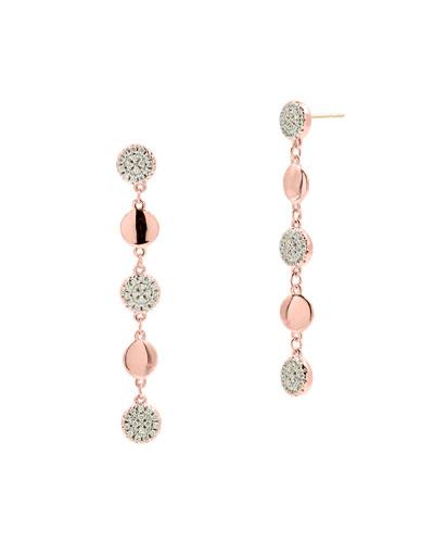 Radiance Linear Drop Earrings  Rose Gold