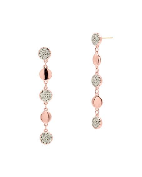 Freida Rothman Radiance Linear Drop Earrings, Rose Gold