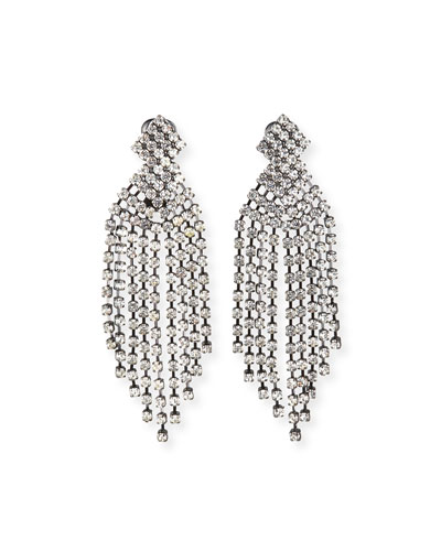 Crystal Waterfall Earrings  3.5L