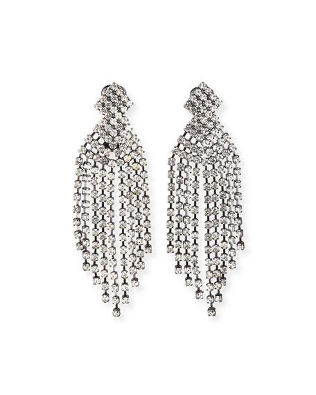 """Kenneth Jay Lane Crystal Waterfall Earrings, 3.5""""L"""