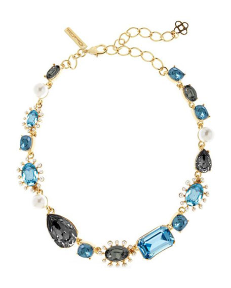 Oscar de la Renta Bold Mixed-Jewel Necklace