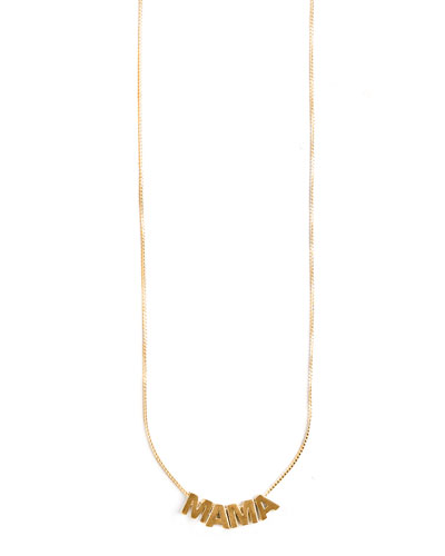 MAMA Adjustable Necklace  Gold