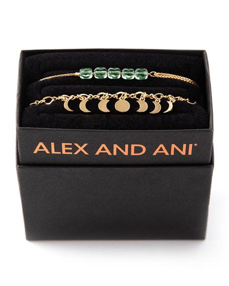 Alex and Ani Lunar Phase Bracelet Gift Set, Gold