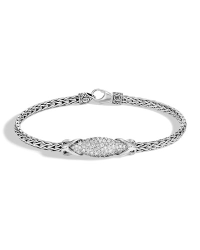 Classic Chain Diamond Pave Slim Bracelet