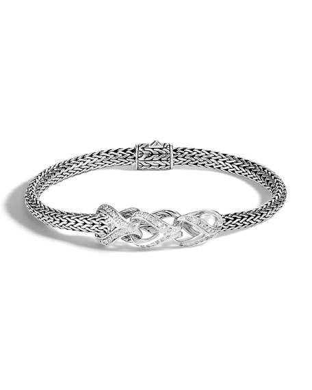John Hardy Classic Chain Asli Diamond Pave Bracelet