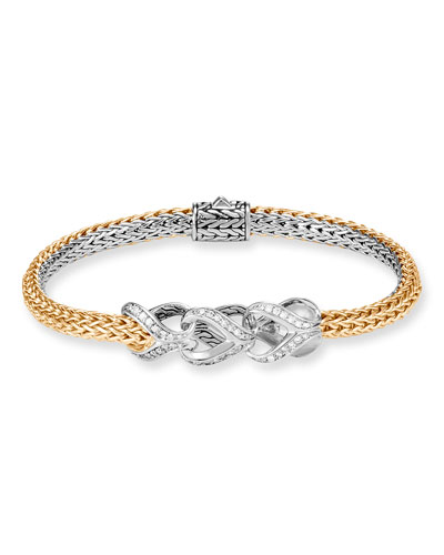 Reversible Classic Chain Diamond-Link Bracelet