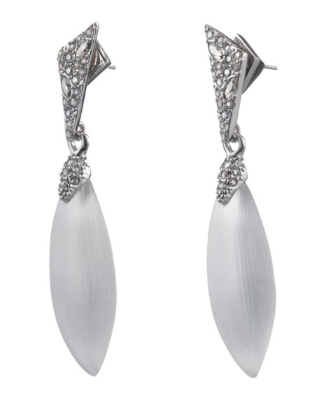 Alexis Bittar Crystal Encrusted Dangle Earrings, Silver
