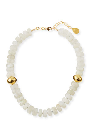 Devon Leigh Moonstone & Gold Accent Necklace