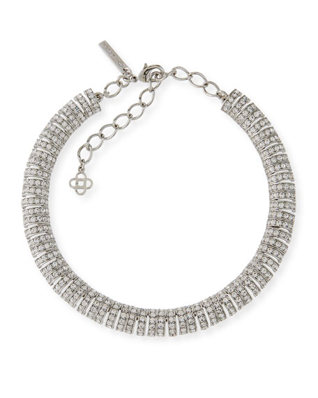 Oscar de la Renta Caterpillar Crystal Necklace