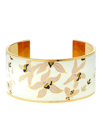 Medium Printed-Enamel Cuff Bracelet