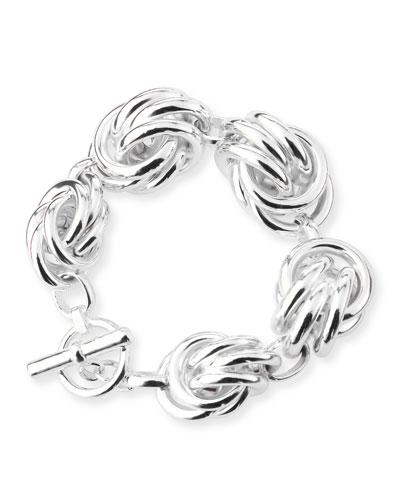 Knot-Station Bracelet, Silver