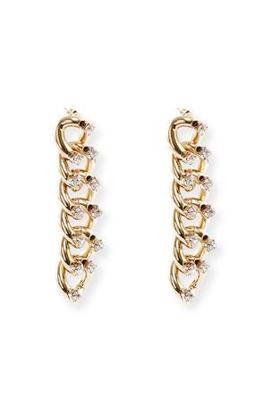 Rosantica Liberta Crystal Chain Earrings