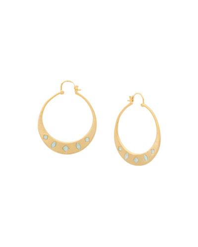 Maya Cubic Zirconia Hoop Earrings