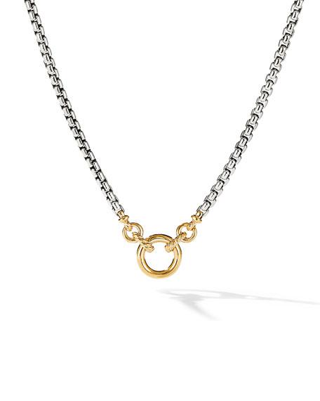 David Yurman Amulet Vehicle Box Chain Necklace with 18K Yellow Gold