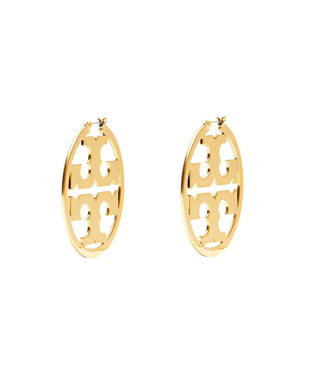 Tory Burch Miller Hoop Earrings Neiman Marcus