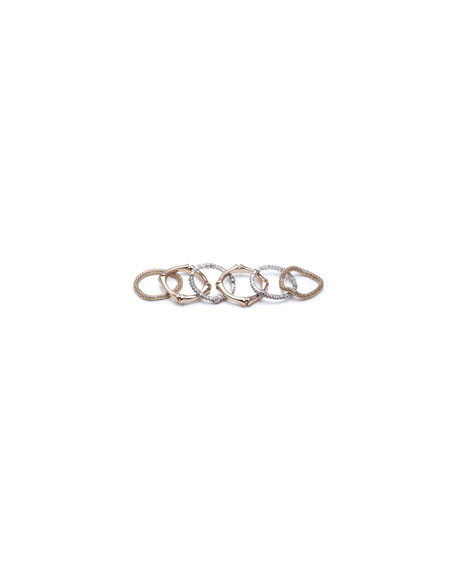 Alexis Bittar Bamboo Stack Rings, Set of 6, Size 8
