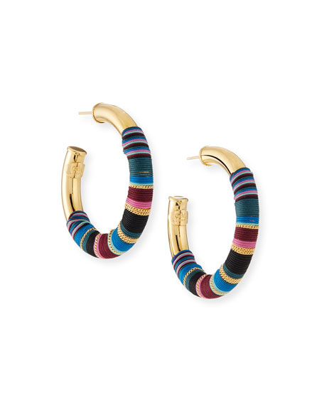 Gas Bijoux Porto Wrapped Hoop Earrings