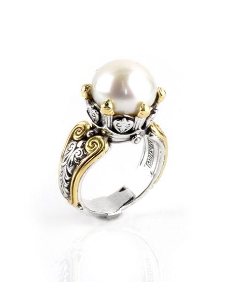 Konstantino Hermione Scroll & Pearl Ring