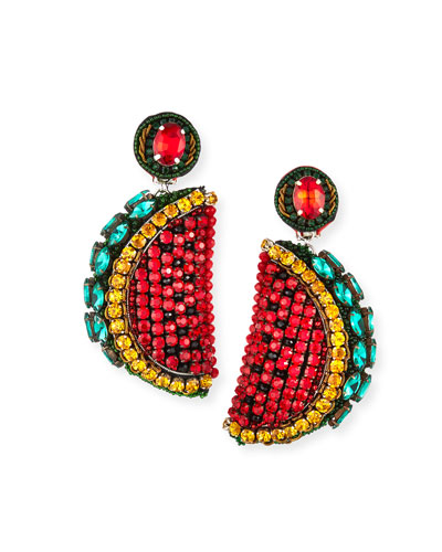 Watermelon Clip-On Earrings