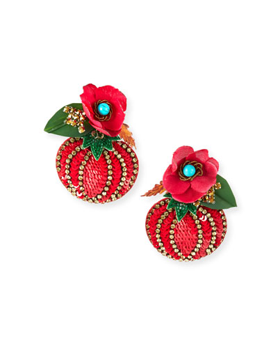 Tomato Drop Earrings
