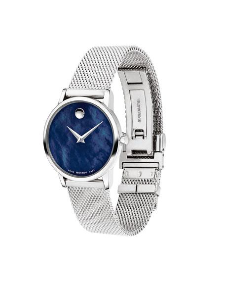 Movado Museum Classic Bracelet Watch, Blue