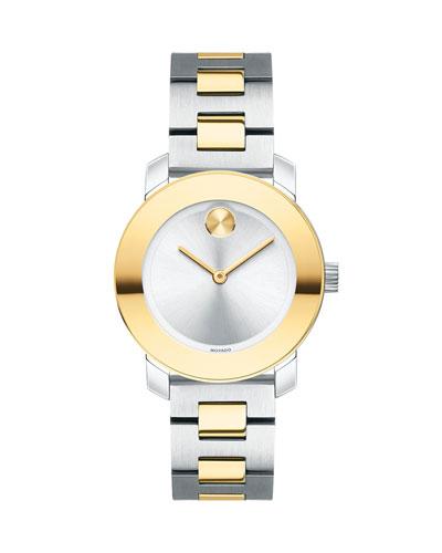 30mm Bold Bracelet Watch  Two-Tone