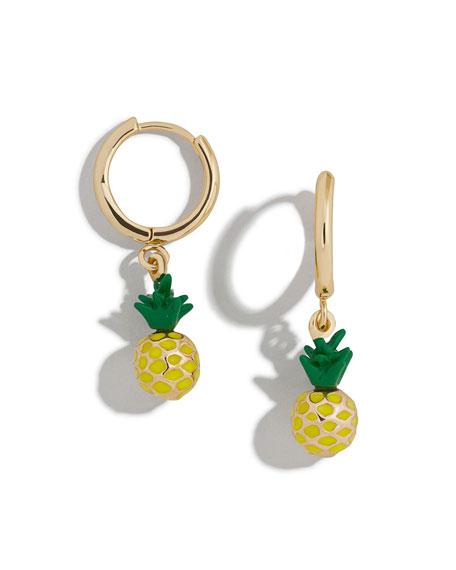 BaubleBar Clover Huggie Hoop Earrings