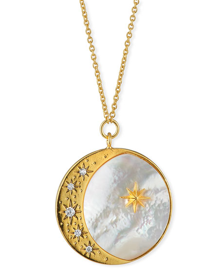 Tai Pearly Star & Moon Coin Necklace
