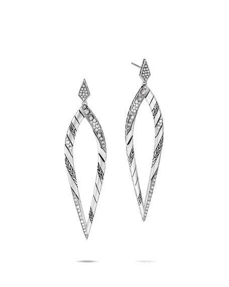 John Hardy Lahar Diamond Long-Drop Earrings