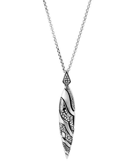 John Hardy Lahar Diamond Drop Pendant Necklace