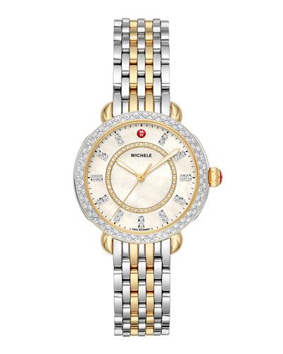 Sidney Classic Diamond Two-Tone Watch  Silver/Gold