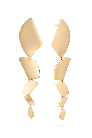 Lana 14k Gold 5-Shape Linear Drop Earrings