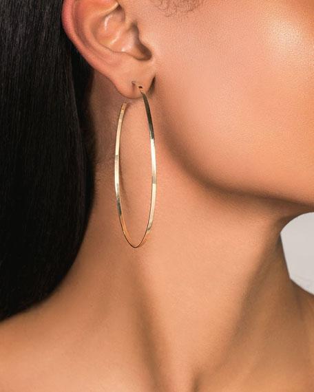 LANA 14k Gold Flat Mega Oval Hoop Earrings