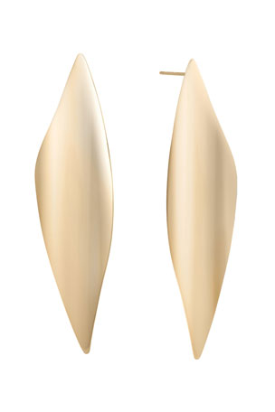 Lana 14k Gold Linear Wave Earrings