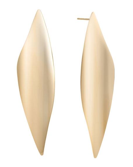 LANA 14k Gold Linear Wave Earrings