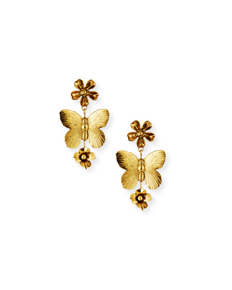 Jennifer Behr Fiora Butterfly Earrings