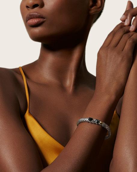 John Hardy Classic Chain Stone Cluster Bracelet w/ 18k Gold, Size M