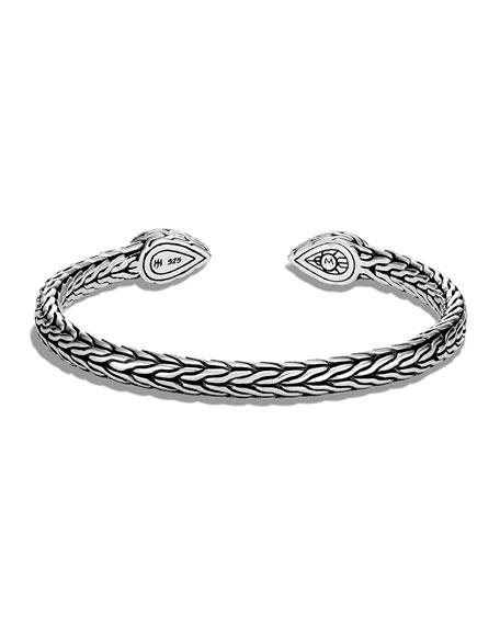 John Hardy Classic Chain Hammered Cuff Bracelet, Size S/M