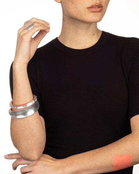 Alexis Bittar Studded Hinge Bracelet, Silver