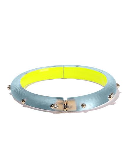 Alexis Bittar Studded Hinge Bracelet, Blue