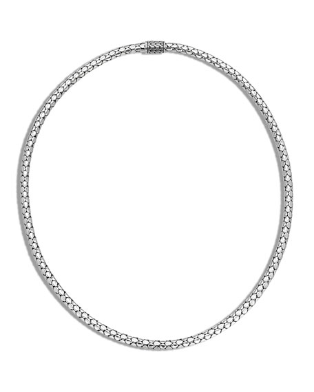 Dot Slim Chain Necklace with Pusher Clasp, 18""