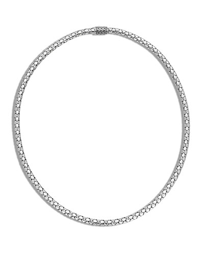 Dot Slim Chain Necklace with Pusher Clasp