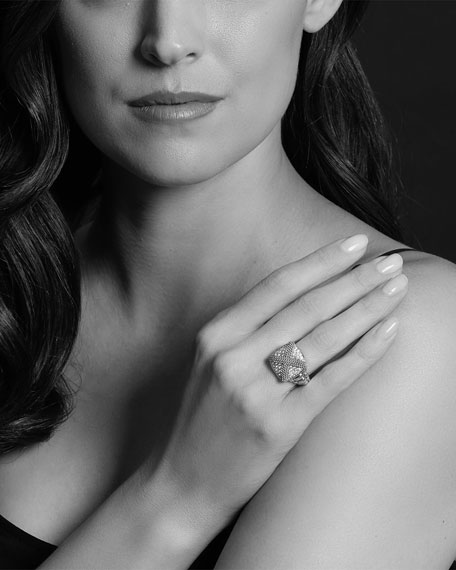 LAGOS Caviar Lux X-Cushion Ring w/ Diamonds, Size 7