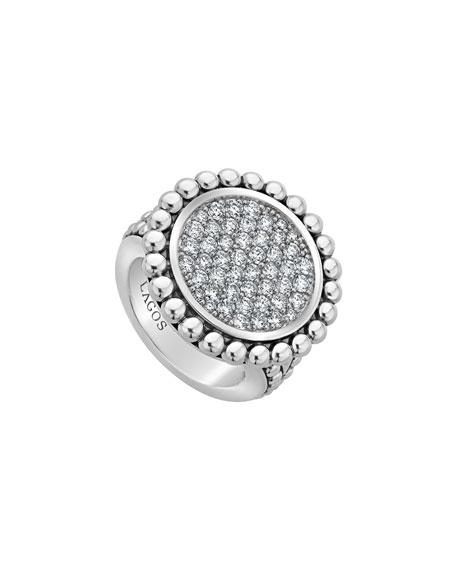 LAGOS Caviar Spark 23mm Diamond Ring, Size 7