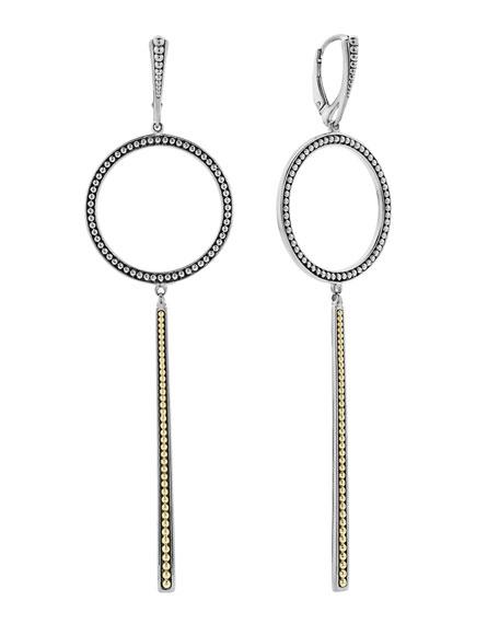 LAGOS Enso Circle & Linear Drop Earrings